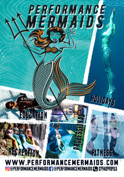 performance mermaids poster
