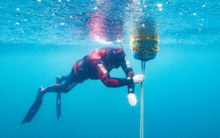 Freediving breathe up at Capernwray