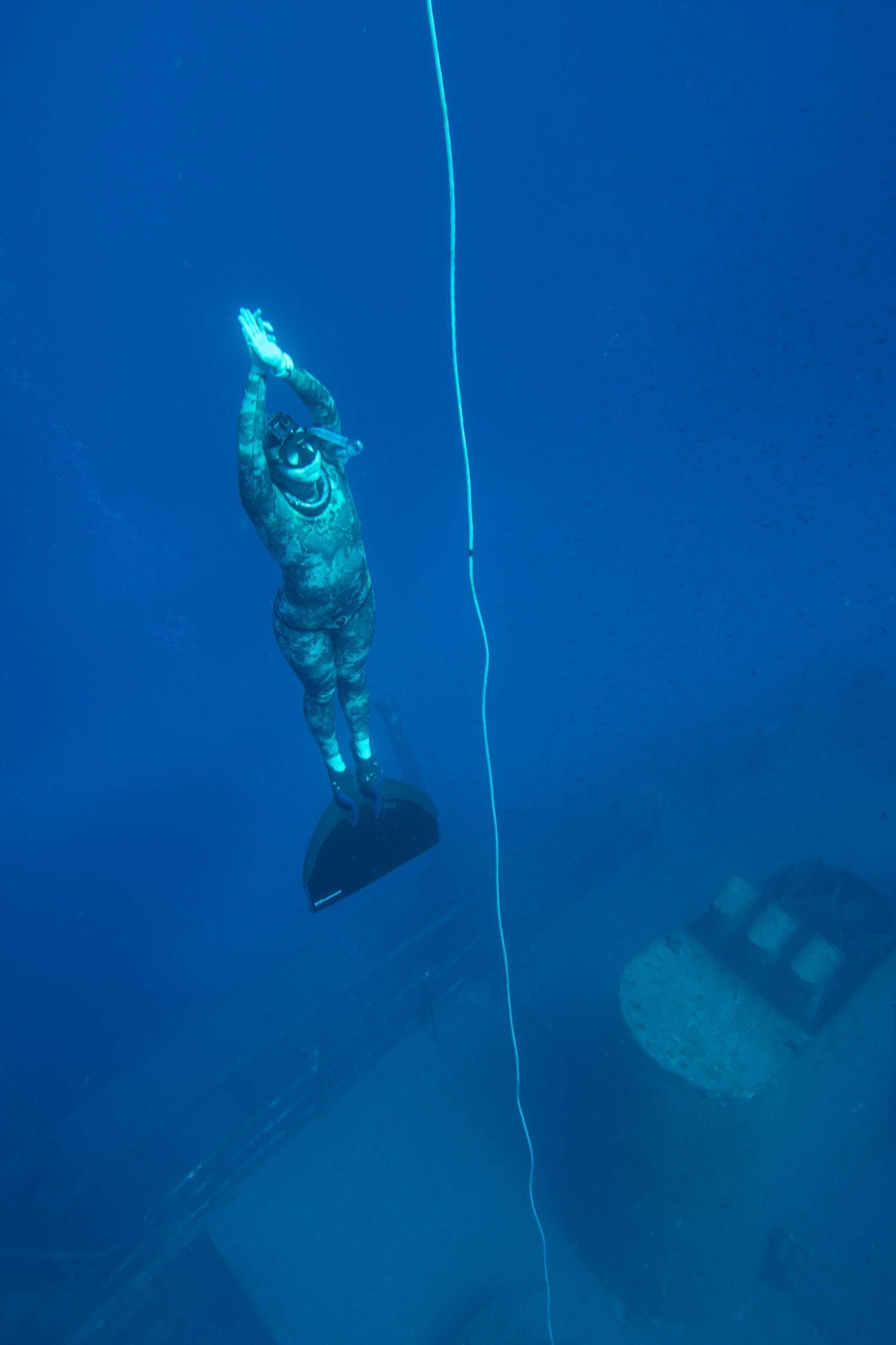 Mono fin freediver Malta