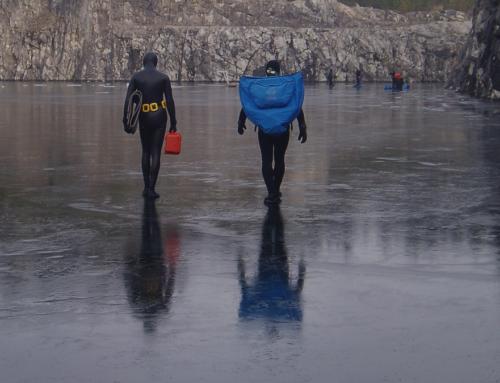 Ice-diving in Sweden