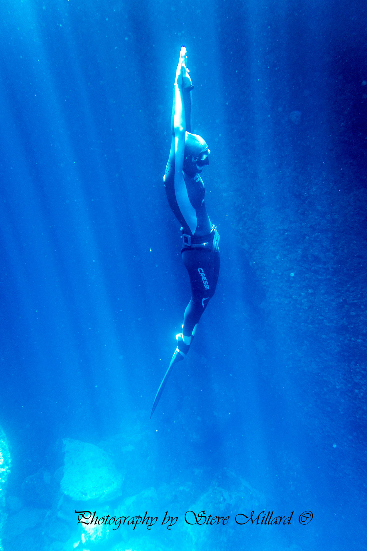 Monofin freediver
