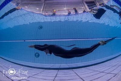 Monofin freediver Rebecca Coales